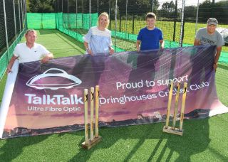 Dringhouses Cricket Club celebrating success and sponsorship from York's Ultra Fibre Optic from TalkTalk